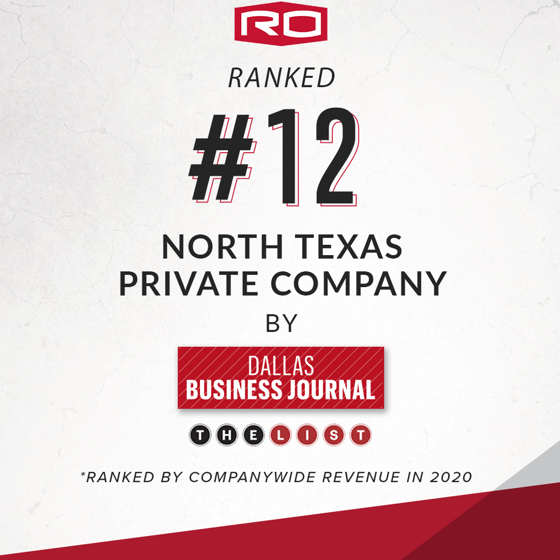 RO LISTED #12 NORTH TEXAS PRIVATE COMPANY
