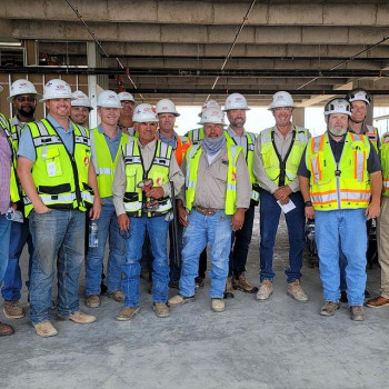 Photo by Rogers-O'Brien Construction on July 23, 2021. May be an image of 12 people.